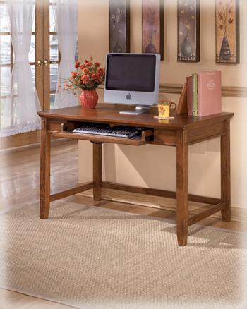 Ashley Furniture Industries Home Office Small Leg Desk Medium Brown