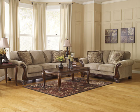 Lanett Sofa and Loveseat great value, great price.