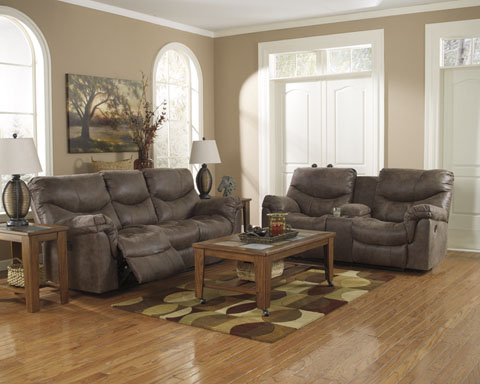 Alzena Reclining Sofa and Loveseat great value, great price.