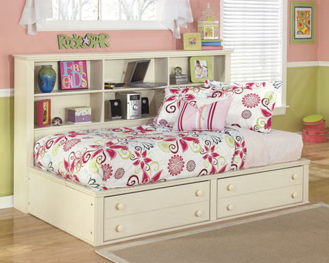 with bedroom bookcase bookcases marvelous white headboard iseydona twin storage bed ashley