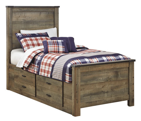 Trenton Twin Panel Storage Bed great value, great price.
