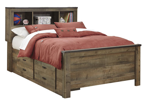 Trenton Full Bookcase Storage Bed with (1) Underbed Storage great value, great price.