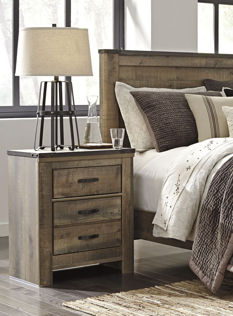 Trenton Two Drawer Night Stand great value, great price.