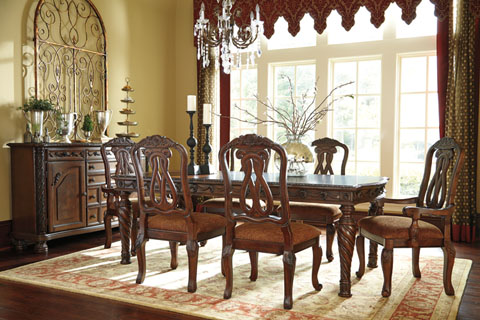 North Shore Rectangular Extension Table With 2 Arm Chairs and 4 Side Chairs great value, great price.