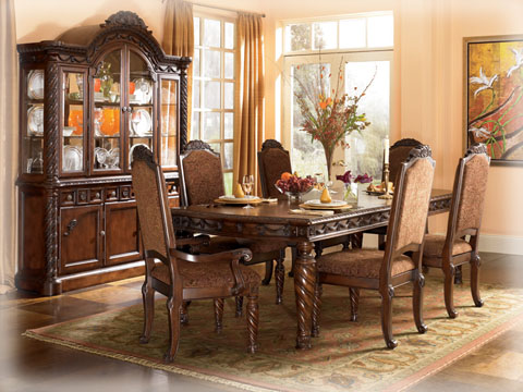North Shore 7 Piece Dining Set By Ashley Furniture Ebay