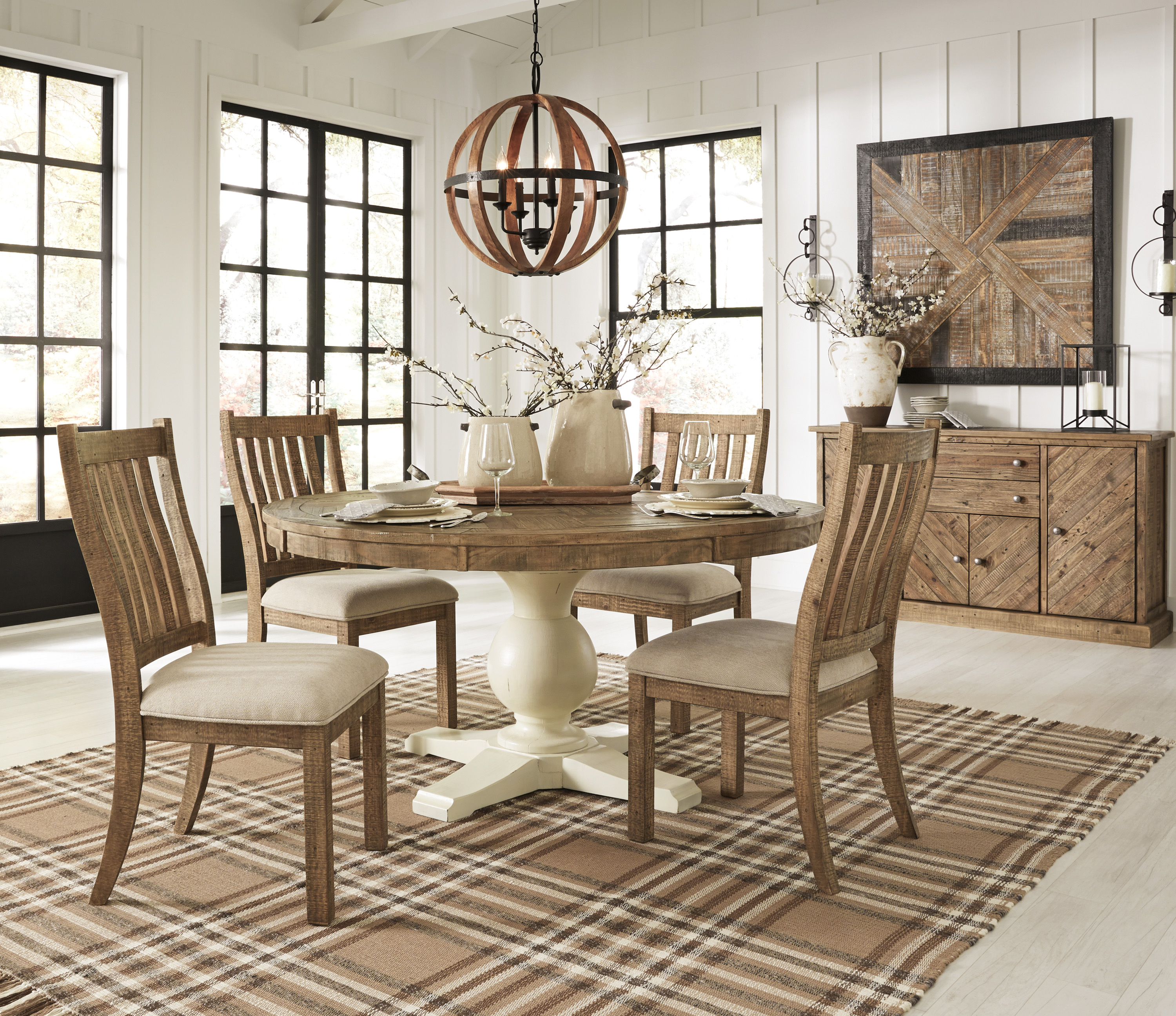Grindleburg Dining Room Table Round: All American Mattress & Furniture