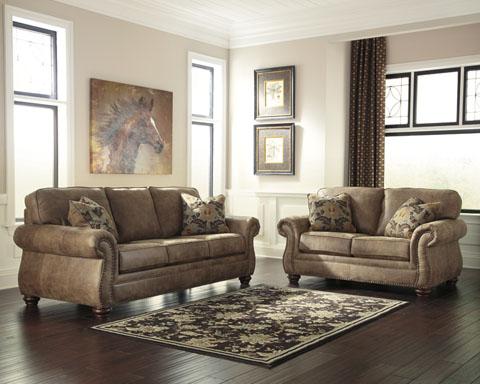 Larkinhurst Sofa and Loveseat great value, great price.