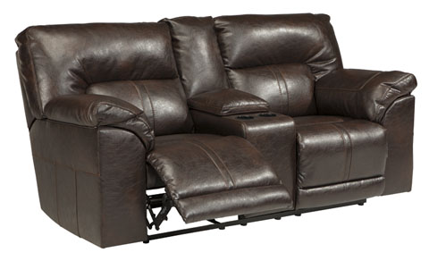 Barrettsville DuraBlend® DBL REC PWR Loveseat w/Console great value, great price.