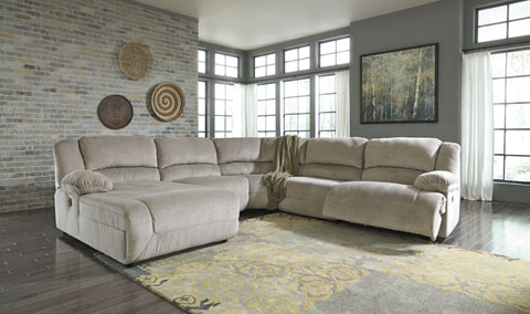 Toletta Left Reclining Chaise Sectional with Console great value, great price.