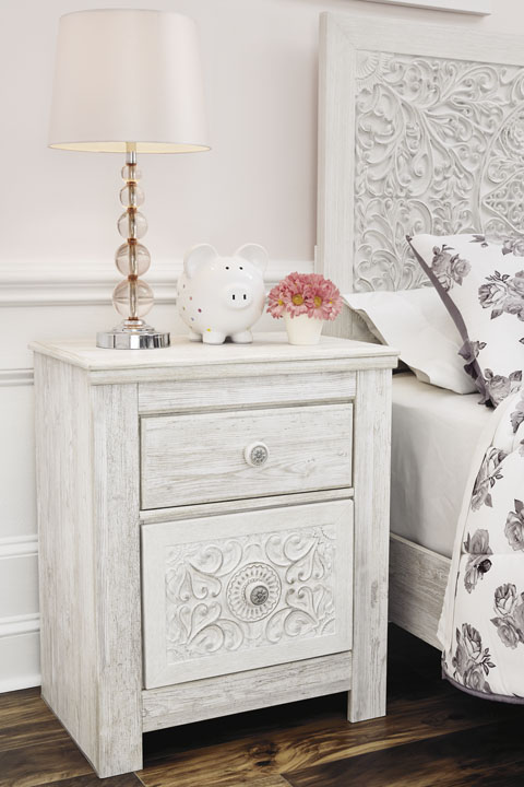 Paxberry Two Drawer Night Stand great value, great price.