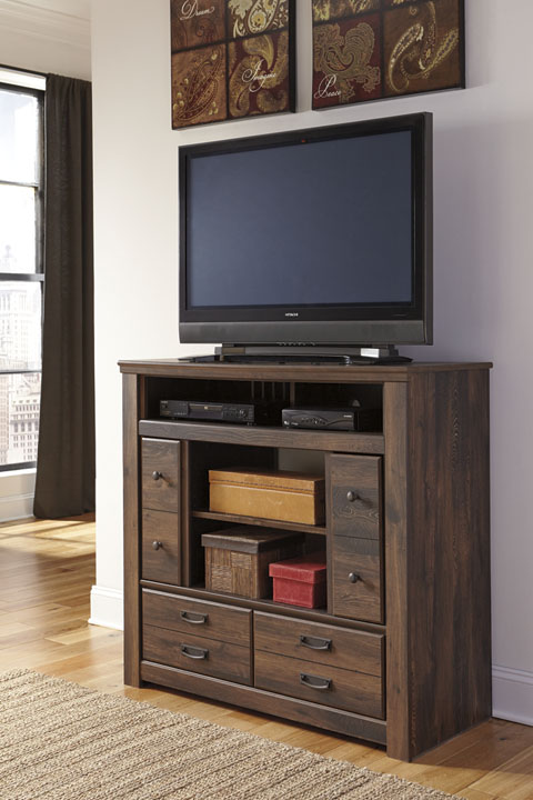 Quinden Media Chest w/Fireplace Option great value, great price.