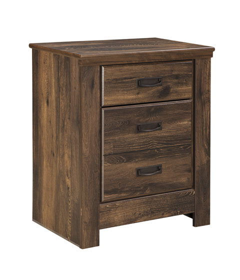 Quinden Two Drawer Night Stand great value, great price.