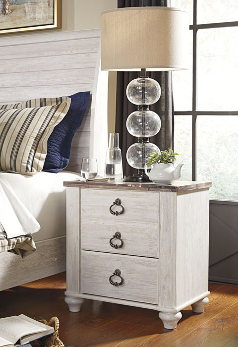 Willowton Two Drawer Night Stand great value, great price.