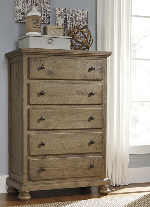 Trishley Five Drawer Chest Great Value Great Price