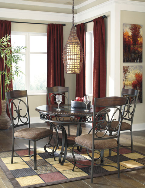 Glambrey Round Table With 4 Chairs great value, great price.