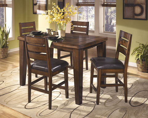 Larchmont Square Extension Counter Table With 4 Barstools great value, great price.