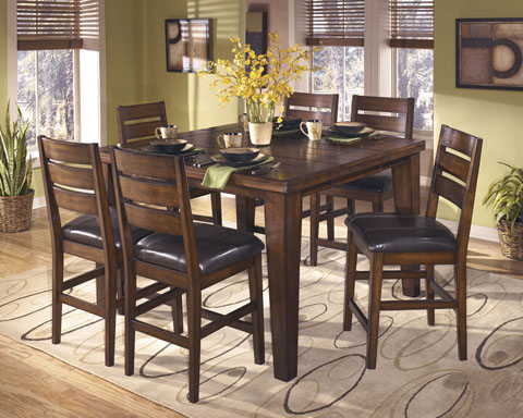 Larchmont Square Extension Counter Table With 6 Barstools great value, great price.