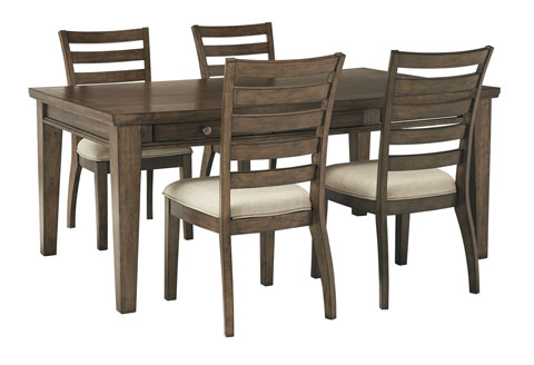 Flynnter Rectangular Table With 4 Chairs Great Value Price