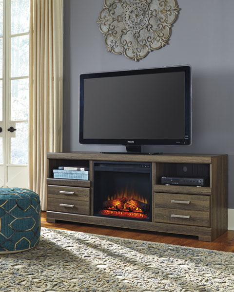 Frantin Large TV Stand with LED Fireplace great value, great price.