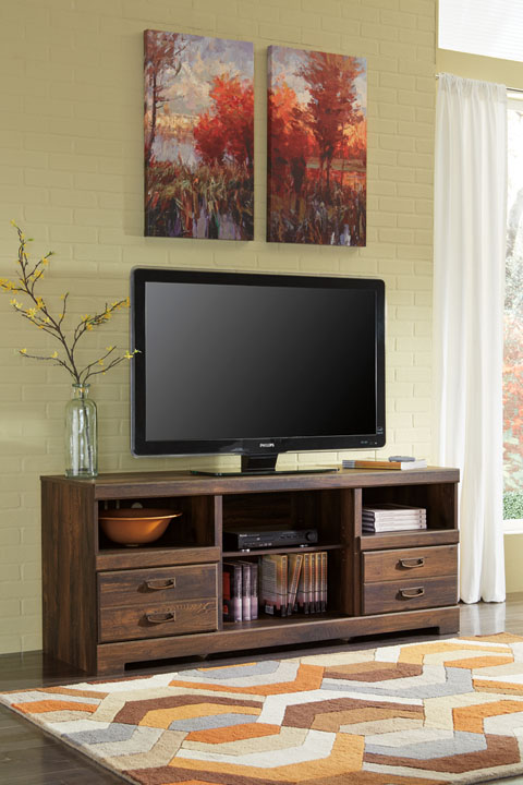Quinden LG TV Stand w/Fireplace Option great value, great price.