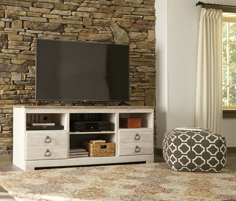 Willowton LG TV Stand w/Fireplace Option great value, great price.