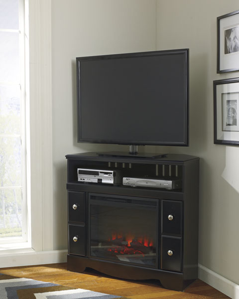 Shay Corner TV Stand with LED Fireplace great value, great price.