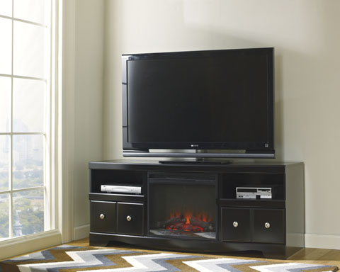 Shay Large TV Stand with LED Fireplace great value, great price.