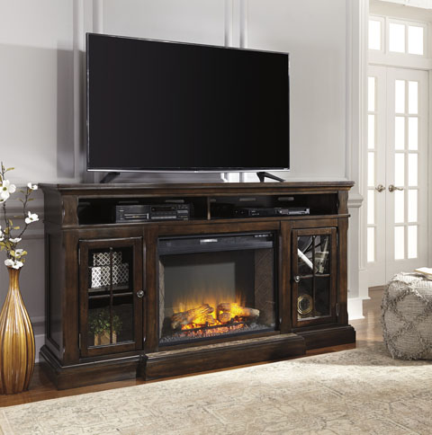 Roddinton Extra Large TV Stand with LED Fireplace great value, great price.