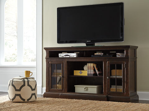 Roddinton XL TV Stand w/Fireplace Option great value, great price.